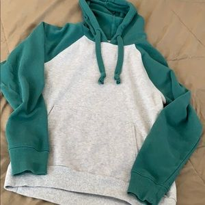 SO green gray hoodie NEW xs lounge sweatshirt